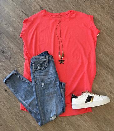 Star Necklace Pocket Tunic Top