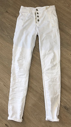 Zip Jeans white