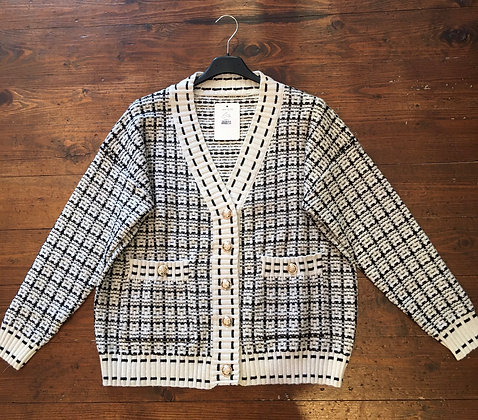 Gold button knitted jacket