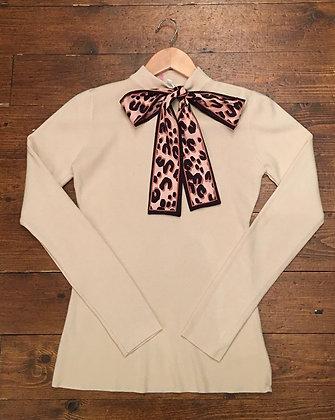 Bow neck jumper