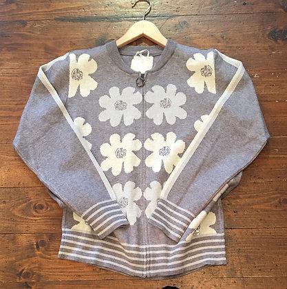 Daisy knit zip jacket