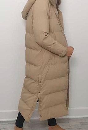 Longline Detachable Hood Puffa Coat oversized
