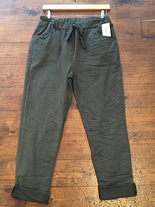 Plain stretch joggers