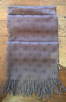 Soft knit fringe scarf