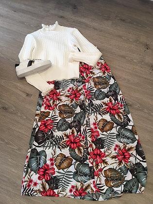 Printed Maxi Pull on skirt