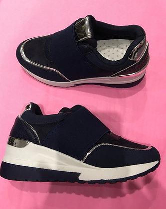 Pull on Trainers (navy )
