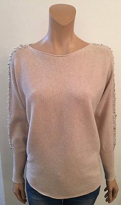 Pearl sleeve jumper