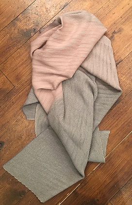 Rib 2 tone scarf