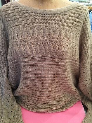 Open Weave Round Neck Knit