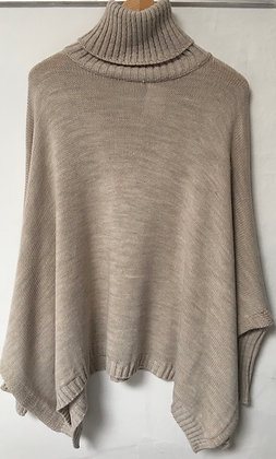 Poncho open side polo jumper
