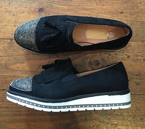 Sparkle toe loafer
