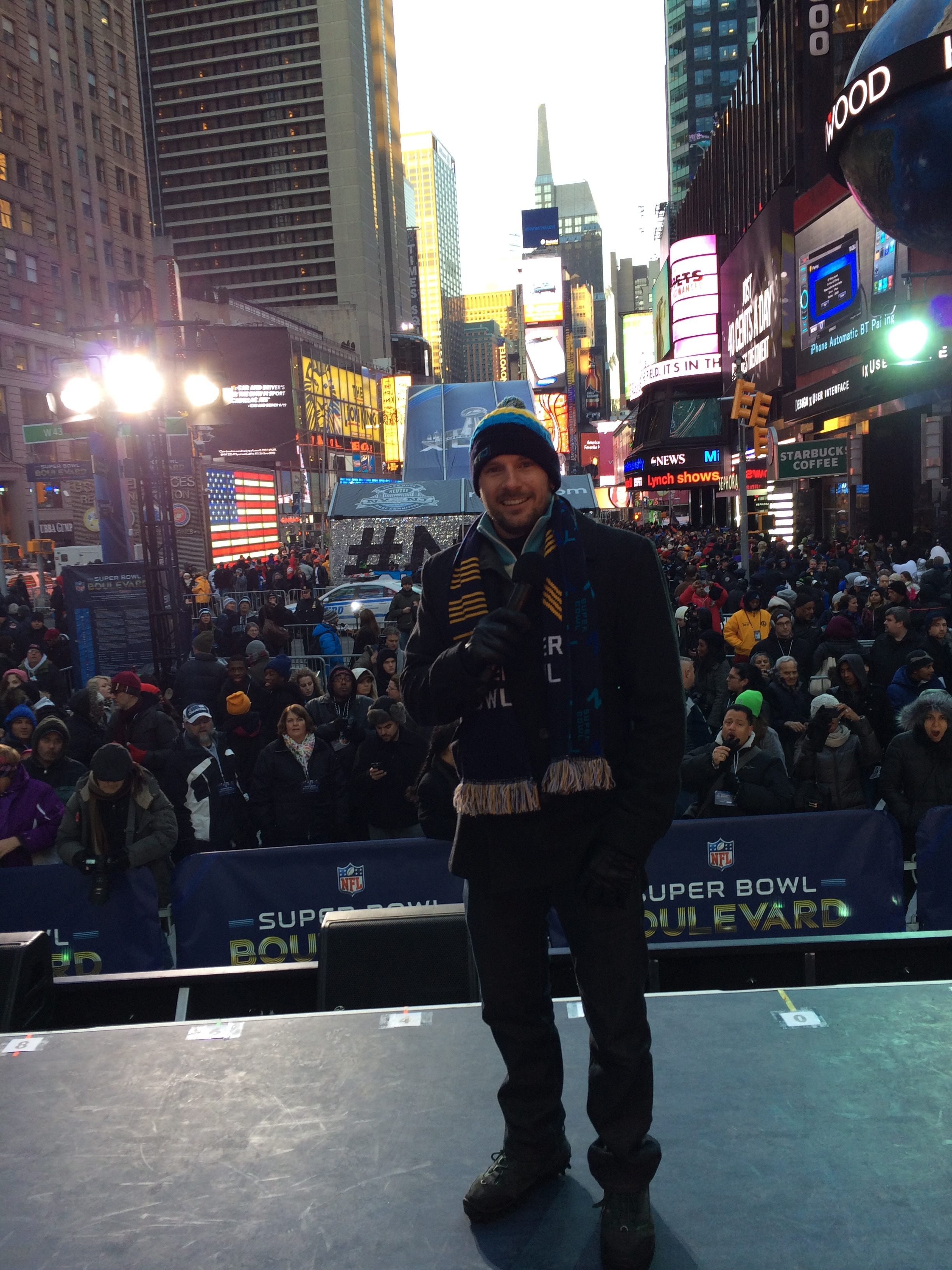 Super Bowl - Times Square