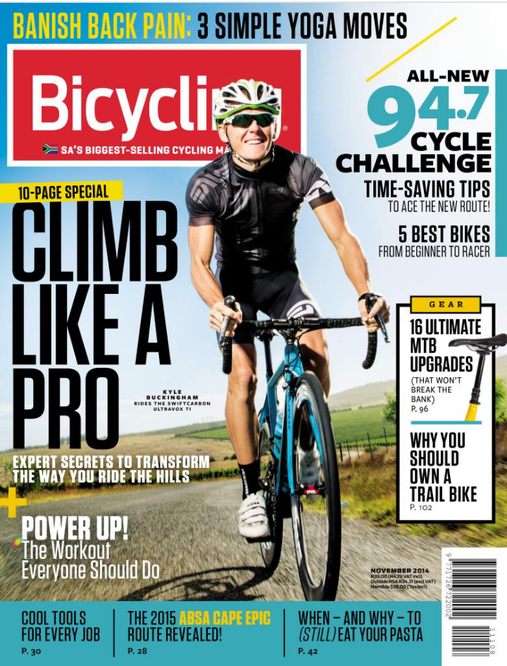 Bicycling mag front cover 14