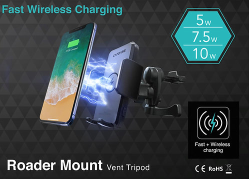 Capdase Roader Fast Wireless Car Charging Mount Air-Vent