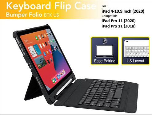 Capdase Shockproof Case with Bluetooth Keyboard for iPad Air 4 (10.9-inch) /iPad