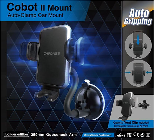 Capdase Auto-Clamp Cobot II Car Mount Gooseneck-Arm for Windshield/Dashboard