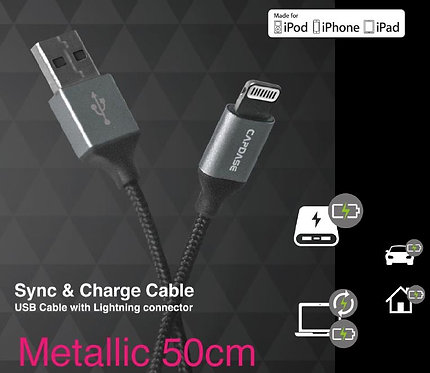 Capdase L-Pin Metallic Sync & Charge Cable (50CM)