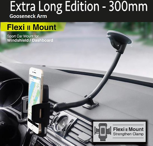 Capdase Sport Car Mount Flexi II (Extra-Long 300mm) Gooseneck Arm for Windshield