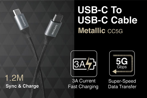Capdase Metallic CC5G USB-C to USB-C Sync & Fast Charge Cable
