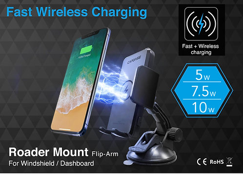 Capdase Roader Fast Wireless Car Charging Mount Flip-Arm