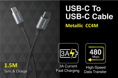 Capdase Metallic CC4M USB-C to USB-C Sync & Fast Charge Cable