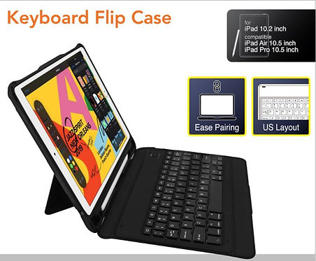 Capdase Shockproof Case with Bluetooth Keyboard for iPad 10.2-inch/iPad Pro 10.5