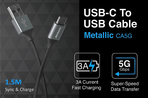 Capdase Metallic CA5G USB-C to USB Sync & Fast Charge Cable