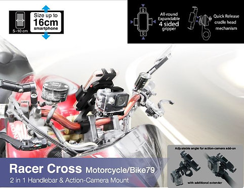 Capdase Motorcycle Mount Racer Cross-Bike 79 2-in-1 Holder Racer