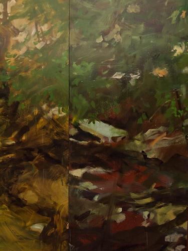 Anthropic Creek Habitat (painting detail)