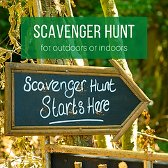 Scavenger Hunt for outdoors or indoors.p