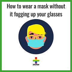 How to wear a mask without it fogging up