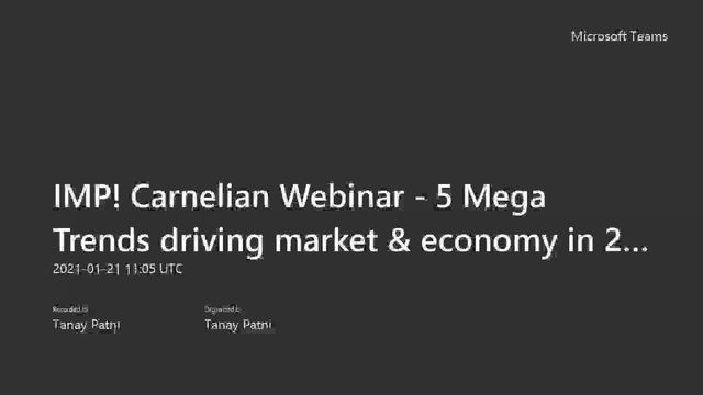 5 Mega Trends driving market & economy in 2021& beyond and how to approach investing?