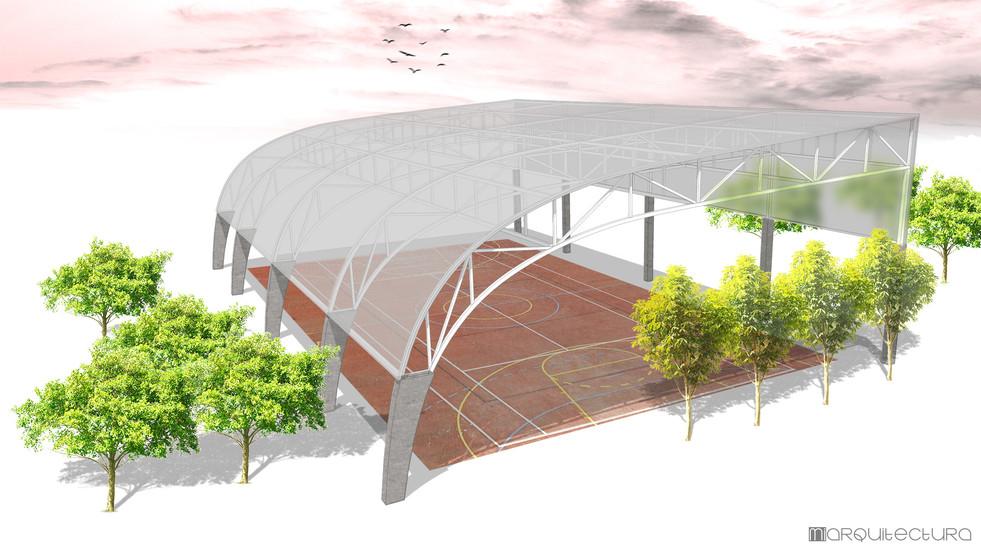 cubierta pista polideportiva XRV