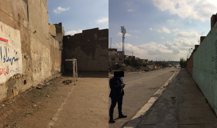 Football at the Pepsi Factory Wall Massacre in Mosul Iraq