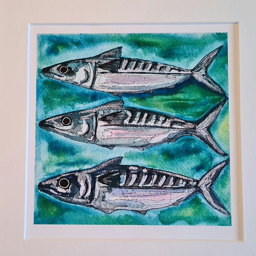 Three Little Fishes Print