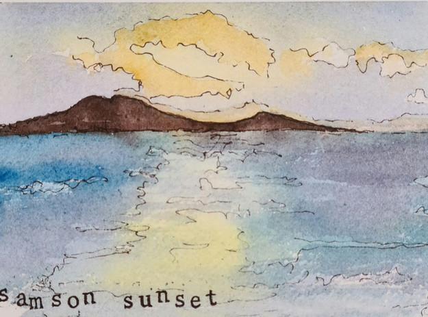 samson sunset card