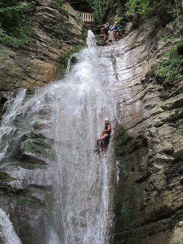 canyoning chatel abondance