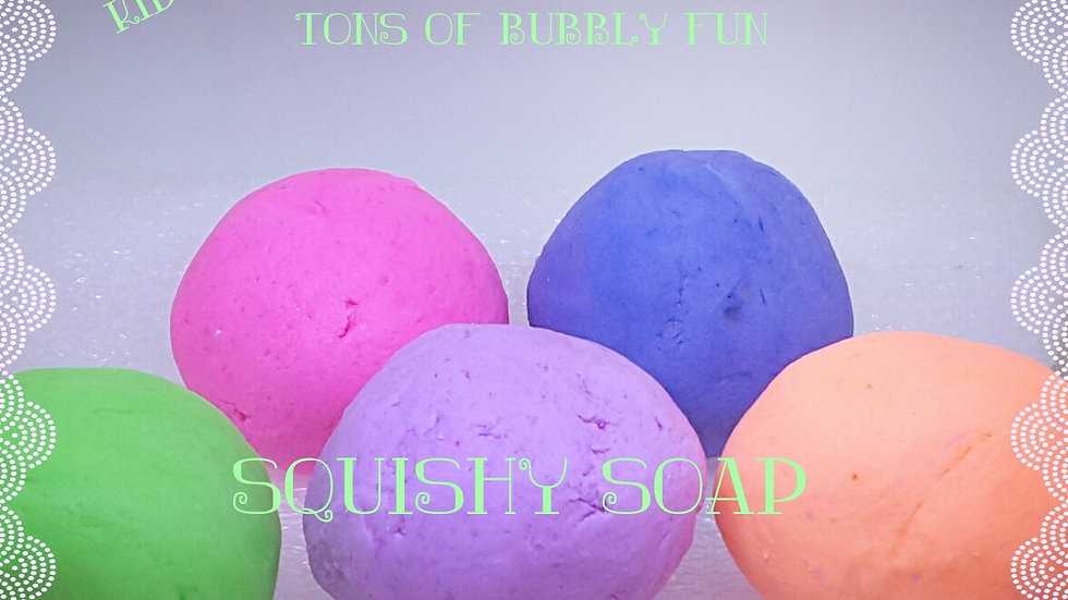 Squishy Soap For Bubble Bath or Shower