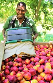 George Pel from Vanuatu empties another