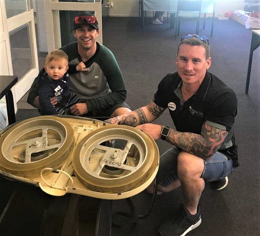 Arlo(10 months) and Mark Knox with Andre