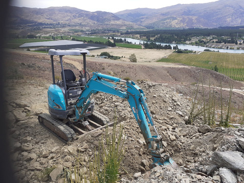 Mini Digger for the tough jobs. Available for hire also