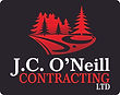 J.C. ONeill Contracting Ltd Logo - on Bl