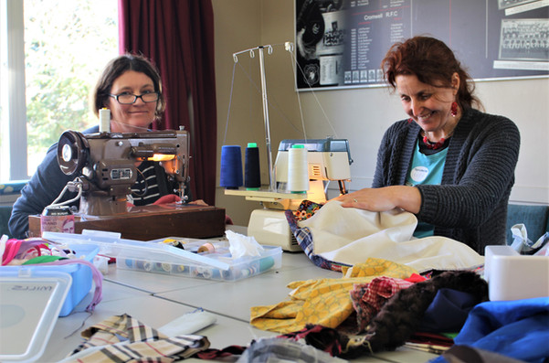 Sandy croft and Ruth Eely Repair Cafe.jp