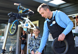 Asher Knox(8) and Ben Deegan Repair Cafe