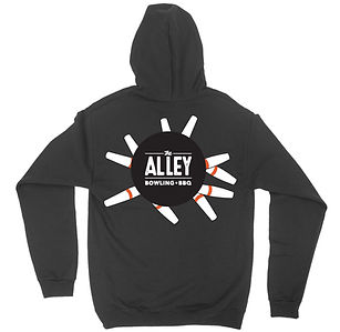Alley Bowl + BBQ Hooded Sweatshirt for Sale
