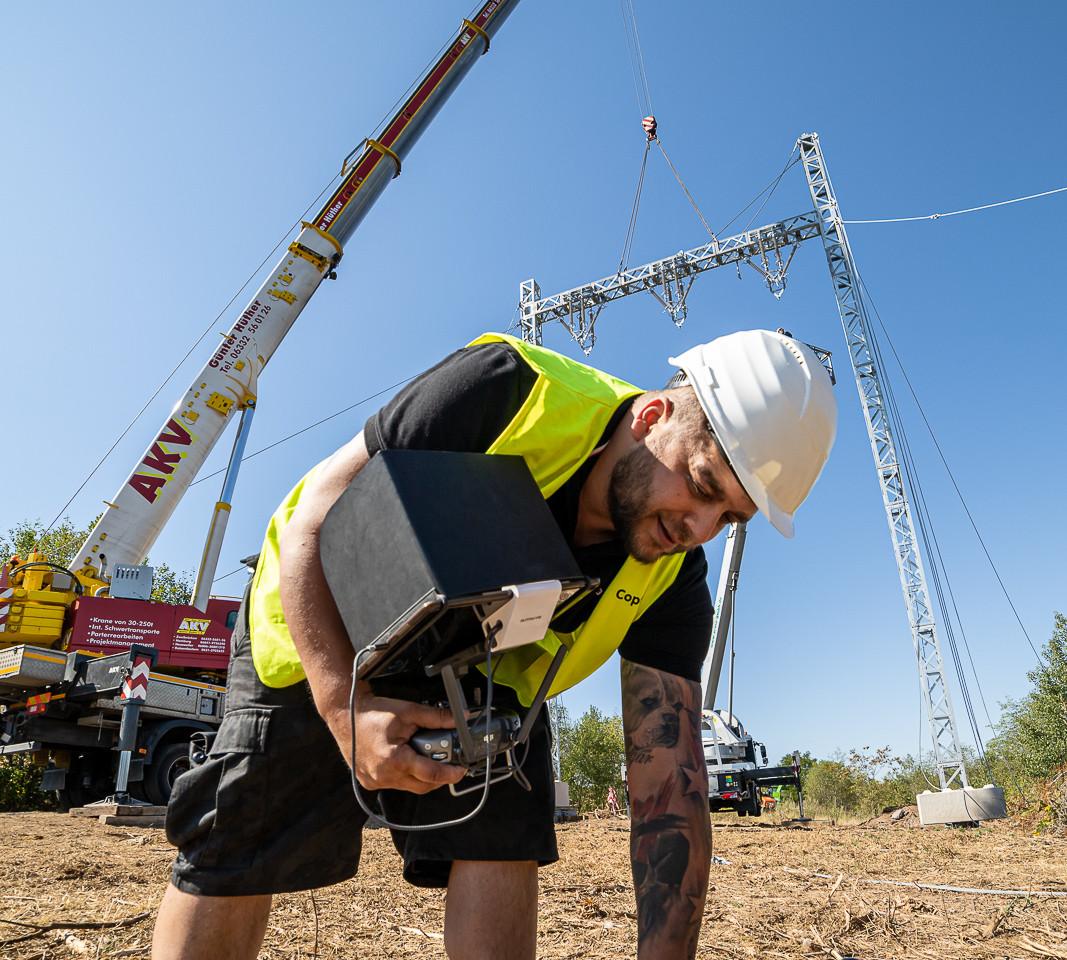 Drohneninspektion auf Baustelle