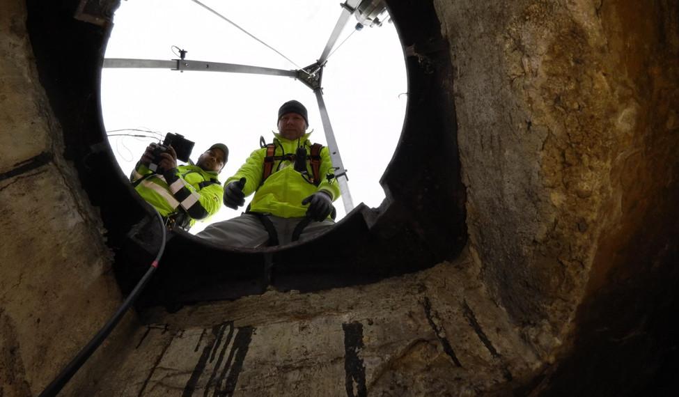Drohneninspektion im Kanal