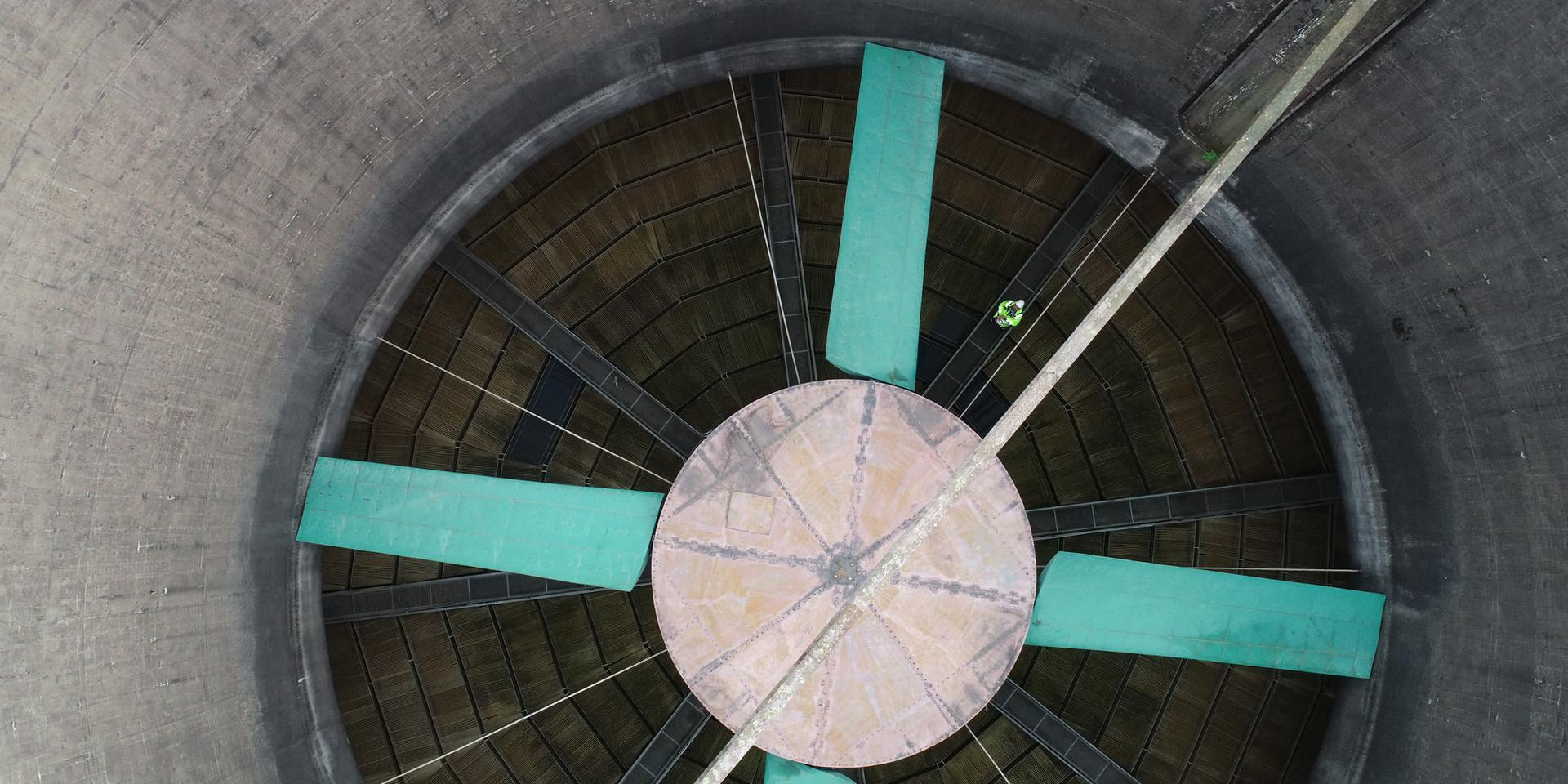 Kühlturminspektion per Drohne