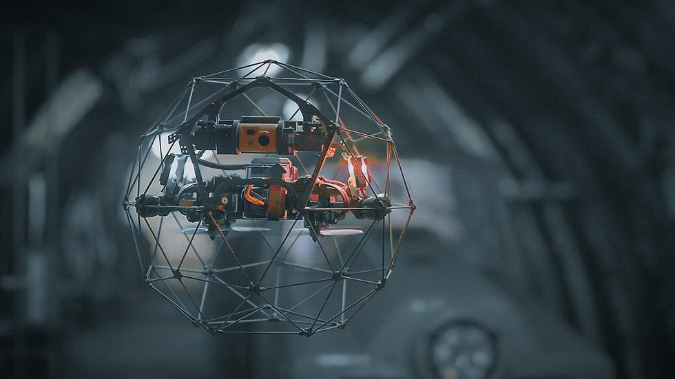 SaarDrones - Drohnen Dienstleistungen - Flyability Elios 2 Drone