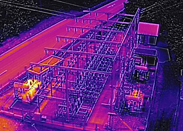 Inspektion Umspannwerk per Drohne